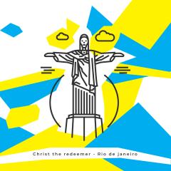 تمثال المسيح الفادي - line the place