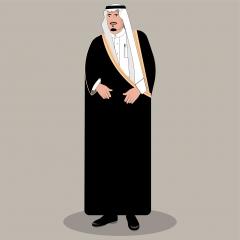 رسمة فيكتور الملك سلمان بن عبدالعزيز آل سعود