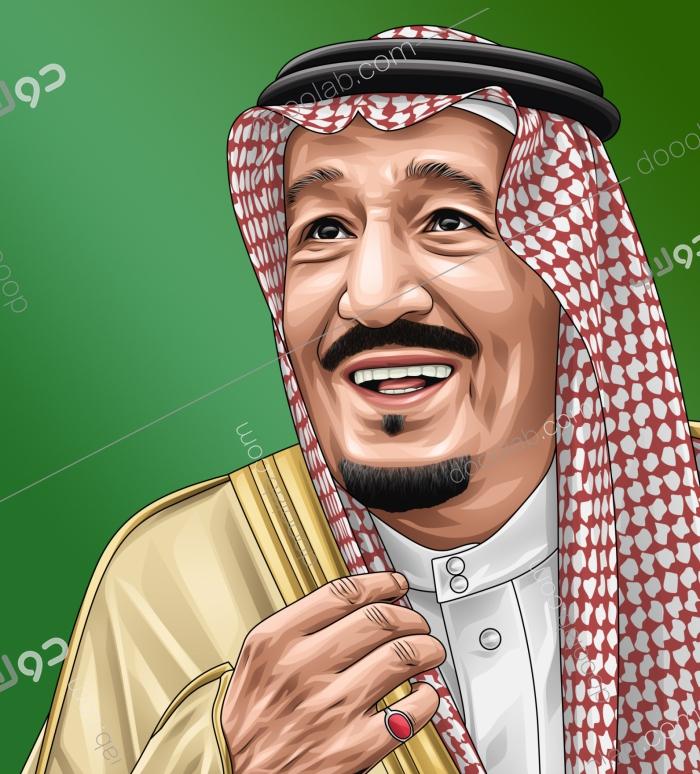 رسم رقمي للملك سلمان بن عبدالعزيز حفظه الله