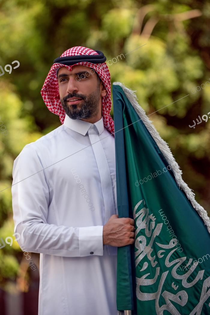 سعودي حامل الراية