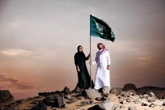 فتاة وشاب سعودي على القمة