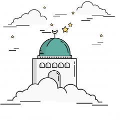 مسجد ، غيوم  ، نجوم