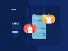 Chat-website header دردشة نصية