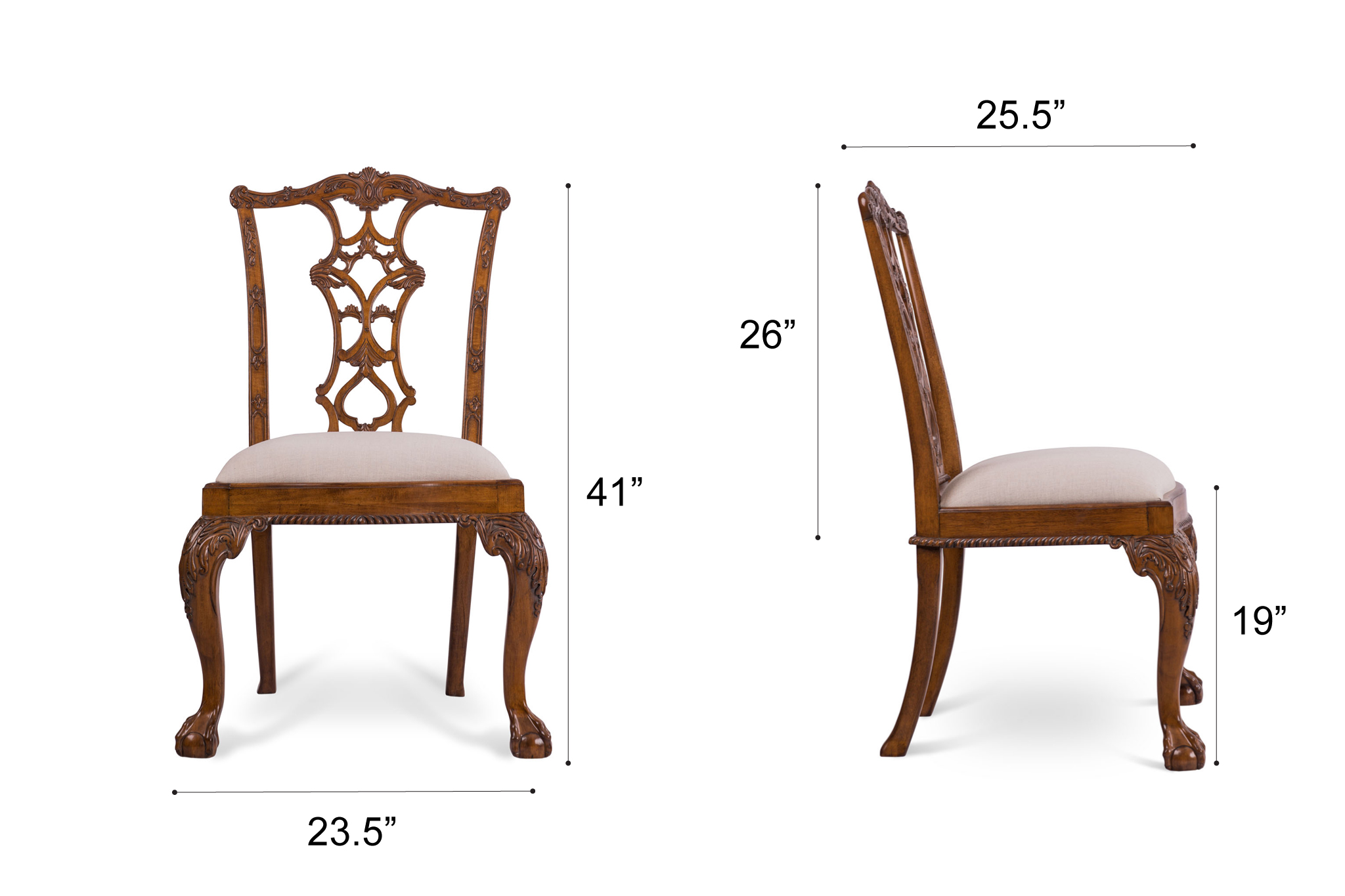 Dowel Furniture Julia Chair Dimensions