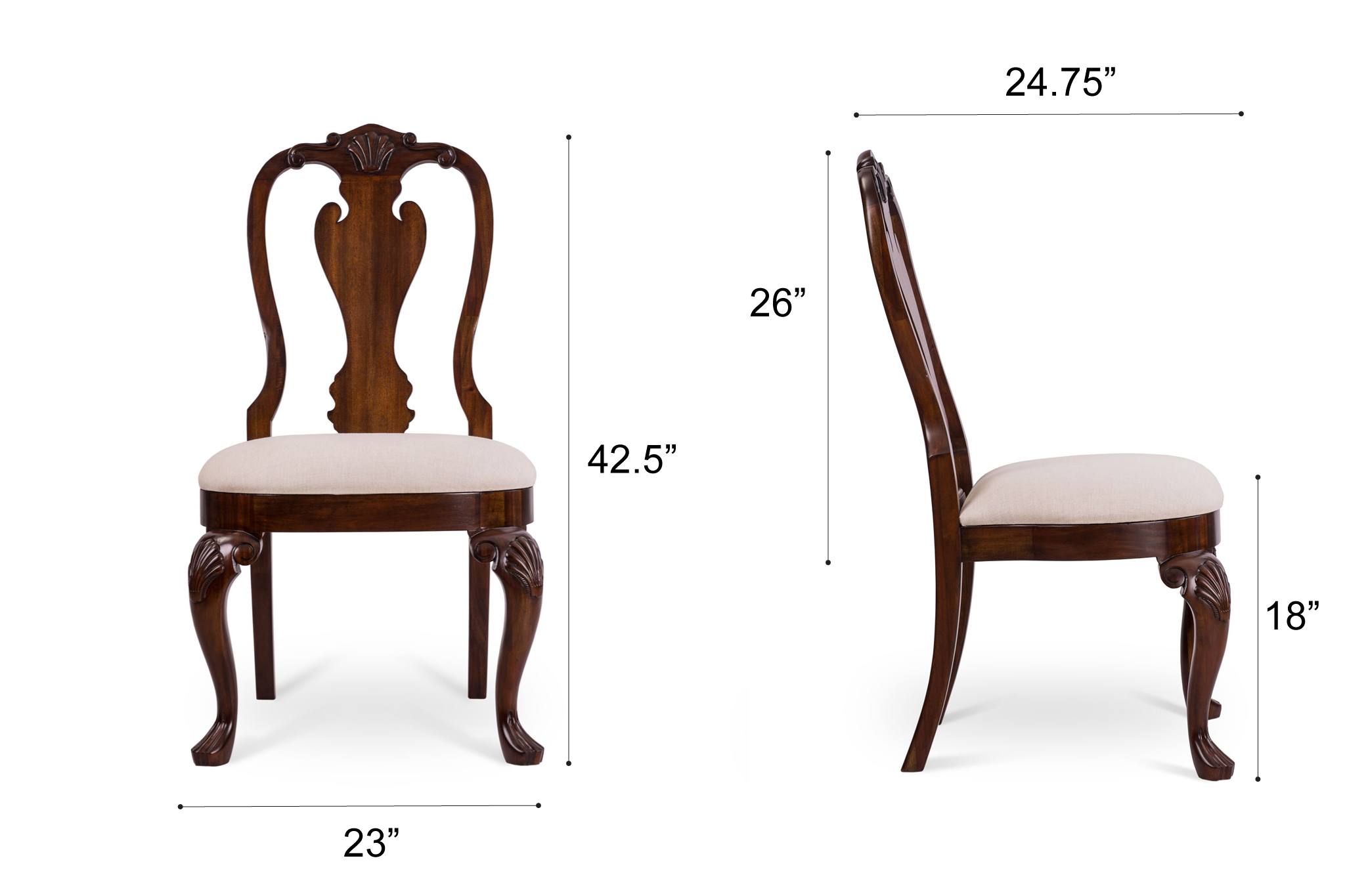 Dowel Furniture - Diana Chair Dimensions