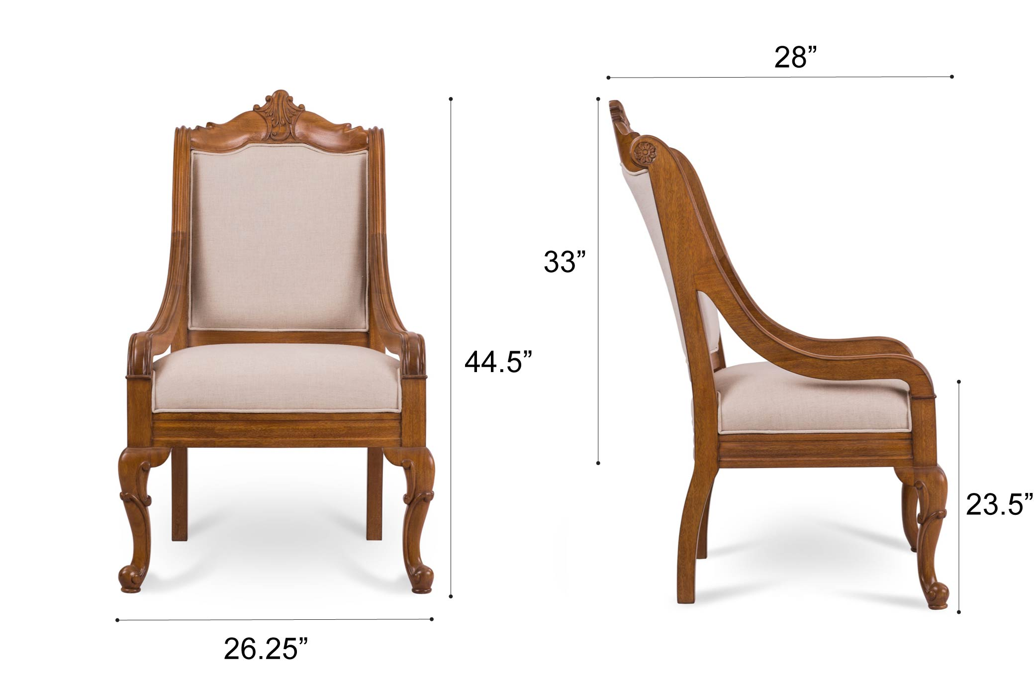 Dowel Furniture Lola Chair Dimensions
