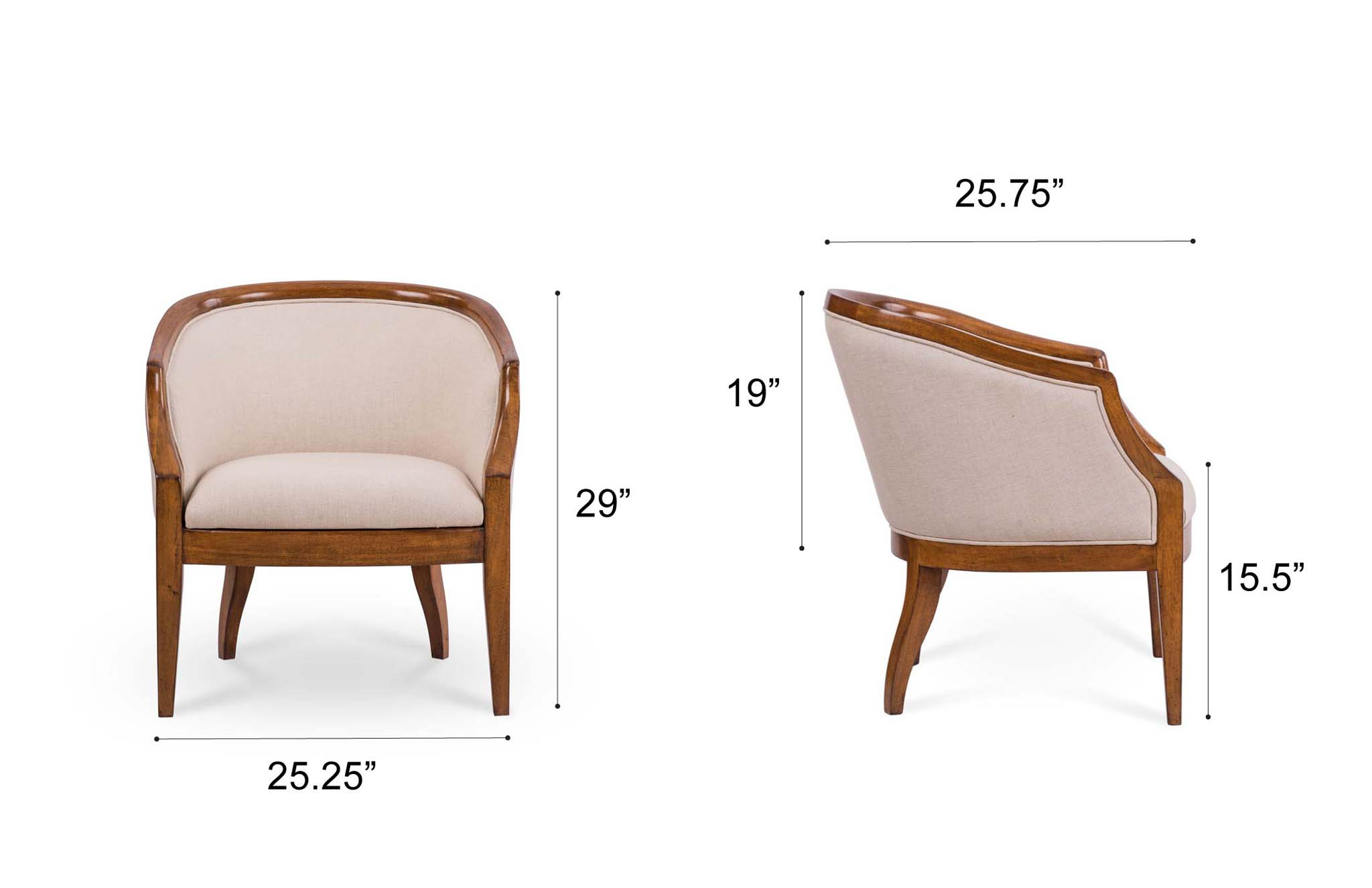Dowel Furniture Claire Chair Dimensions