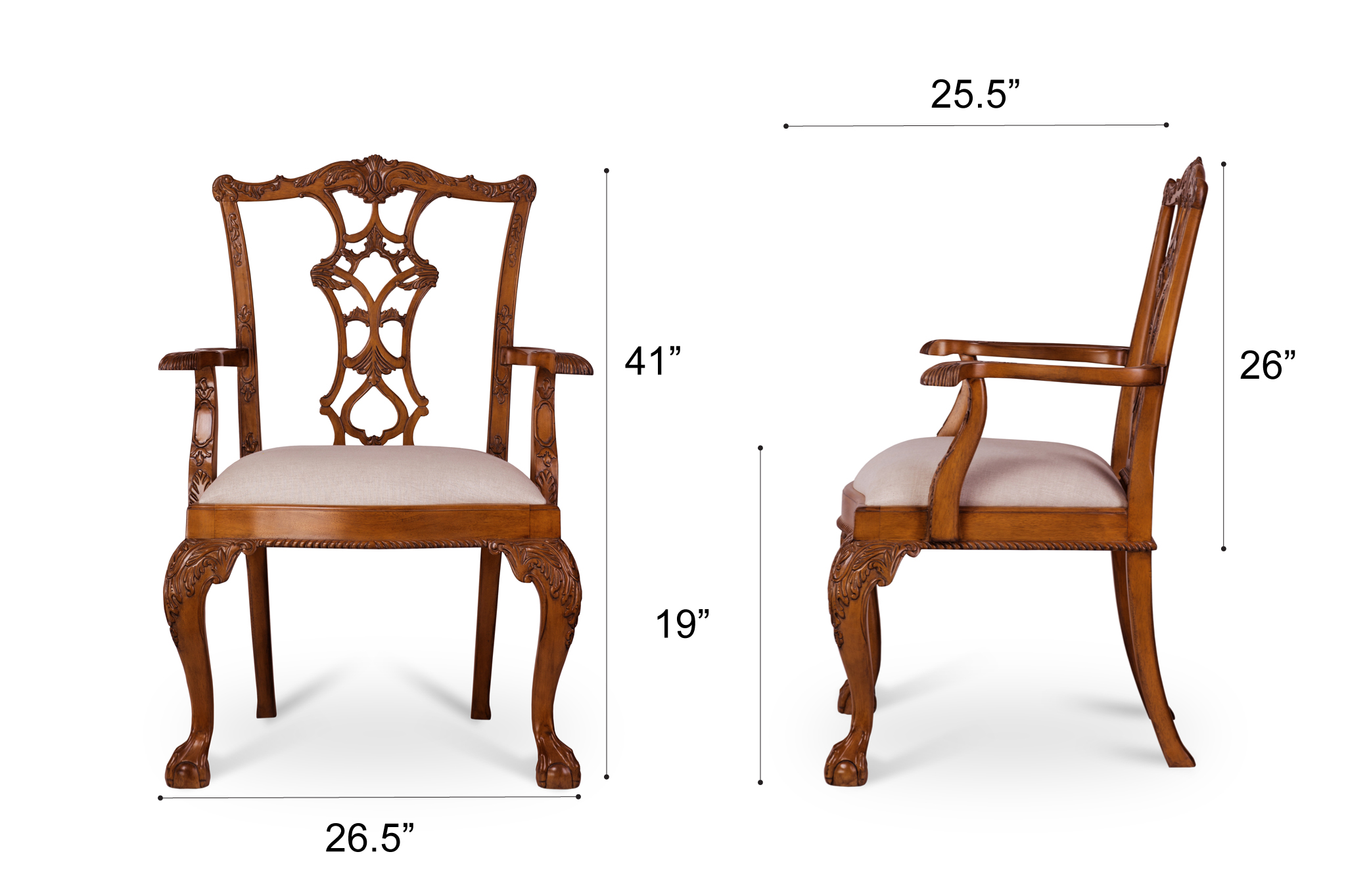 Dowel Furniture Julie Armchair Dimensions