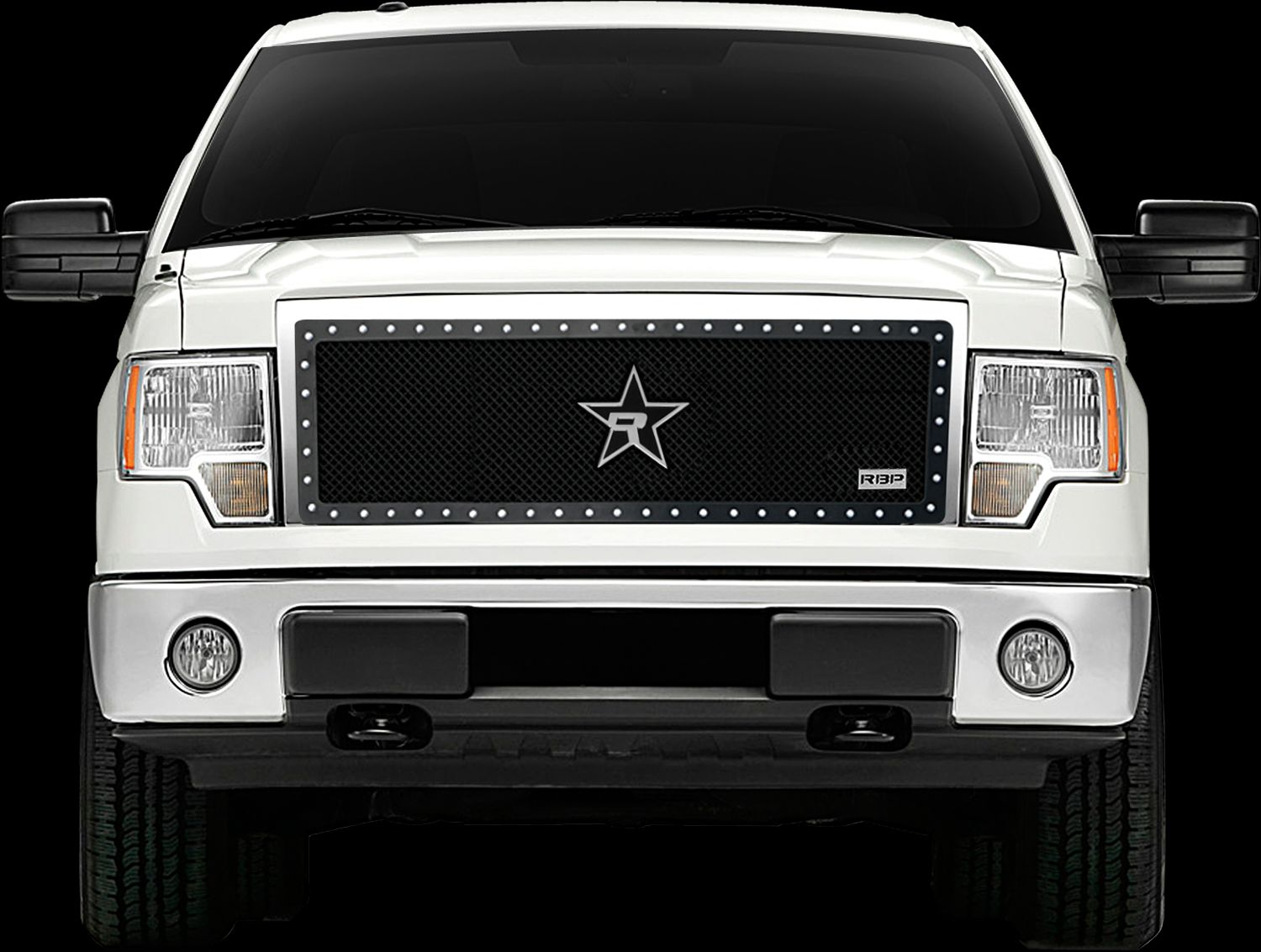 RBP RX-5 HALO Series Studded Frame Grille-Black 2009-2014 Ford F-150 ...