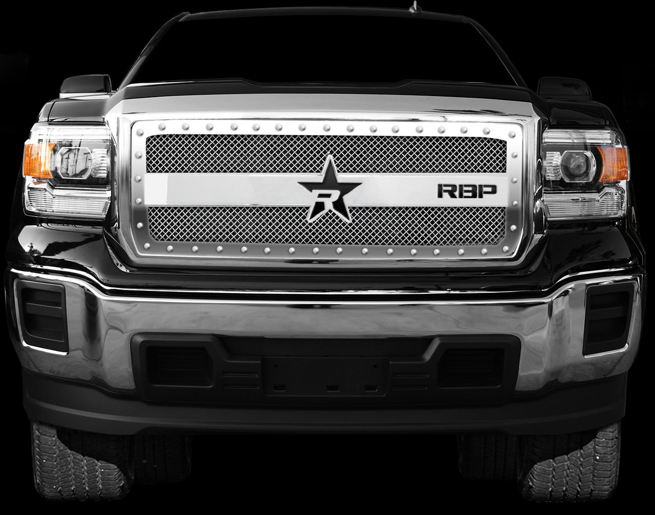 rbp rx 3 frame grille chrome 1 piece 2015 2016 gmc sierra. Black Bedroom Furniture Sets. Home Design Ideas