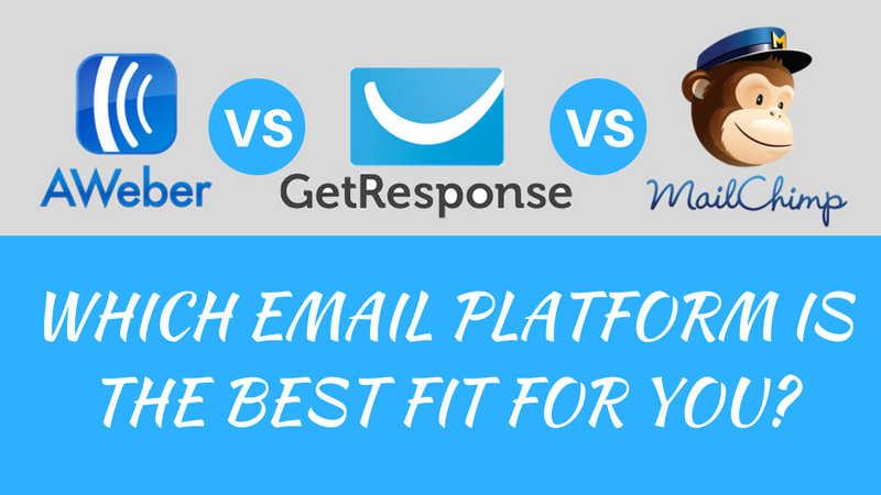 aweber vs. getresponse vs. mailchimp
