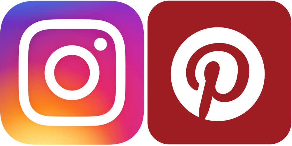 instagram and pinterest icons