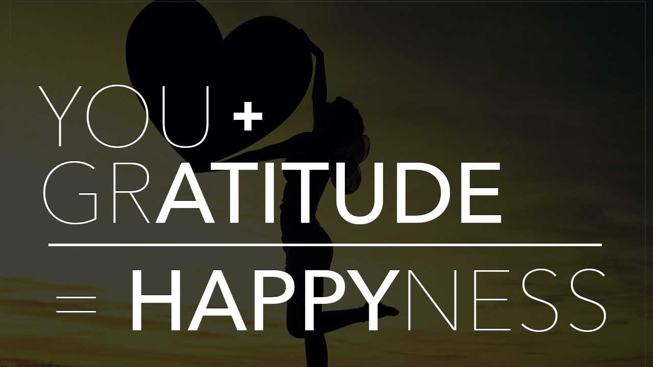 you + gratitude = happyness