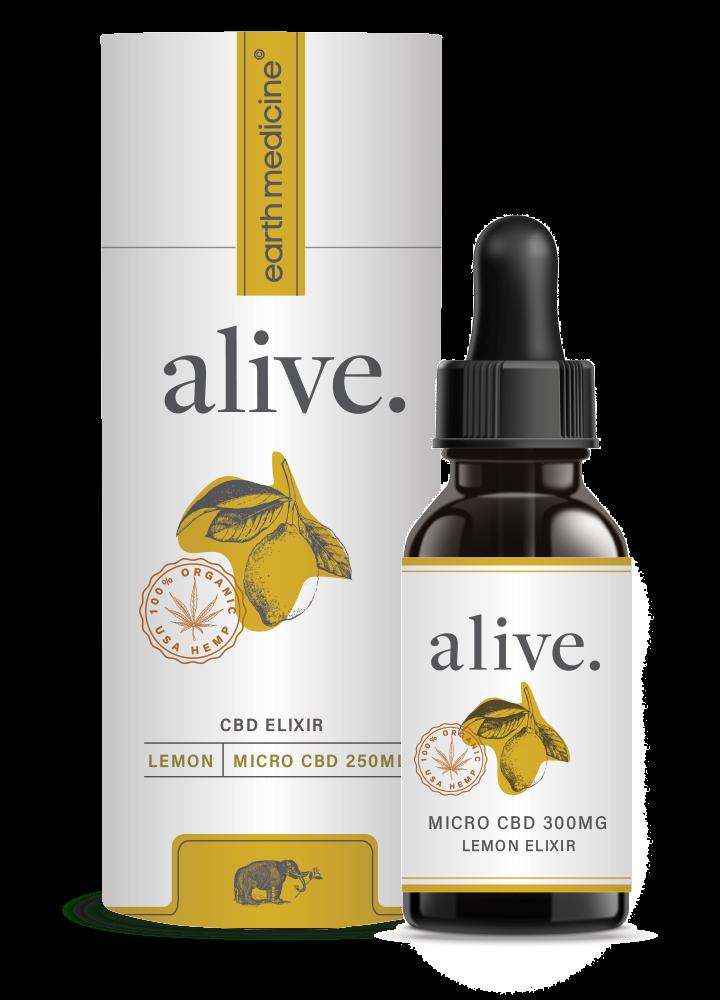 alive - Lemon MicroCBD Tincture