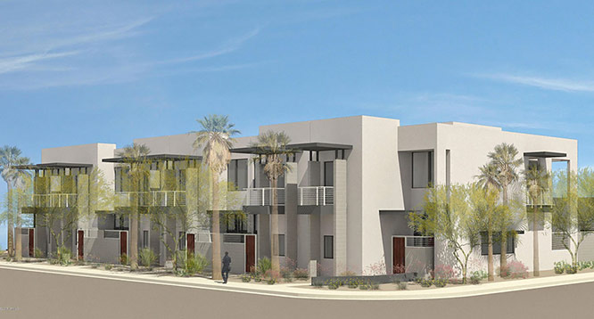 Exterior rendering of The Douglas in Scottsdale