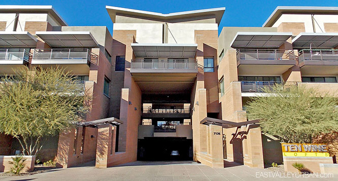 Front elevation view of Ten Wine Lofts in Scottsdale