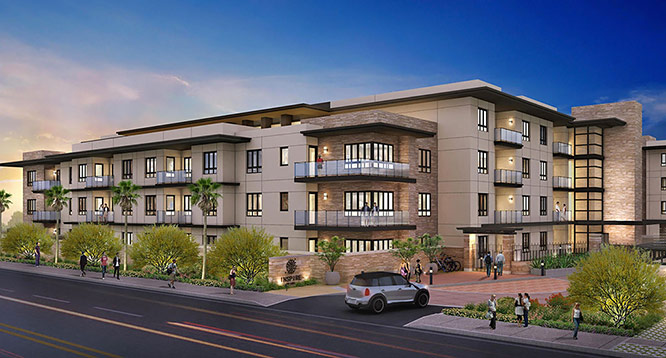 Exterior rendering of Inspire on Earll in Scottsdale