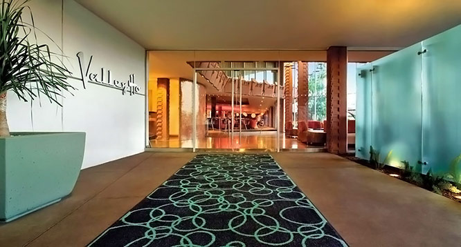 Lobby entrance to Valley Ho Hotel in Scottsdale