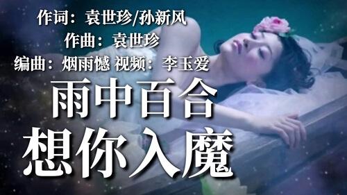Xiang Ni Ru Mo 想你入魔 Miss You Lyrics 歌詞 With Pinyin By Yu Zhong Bai He 雨中百合
