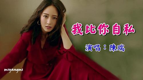 Wo Bi Ni Zi Si 我比你自私 I'm More Selfish Than You Are Lyrics 歌詞 With Pinyin