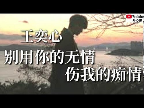 Bie Yong Ni De Wu Qing Shang Wo De Chi Qing 别用你的无情伤我的痴情 Don't Use Your Heartless Hurt My Spoony Lyrics 歌詞 With Pinyin