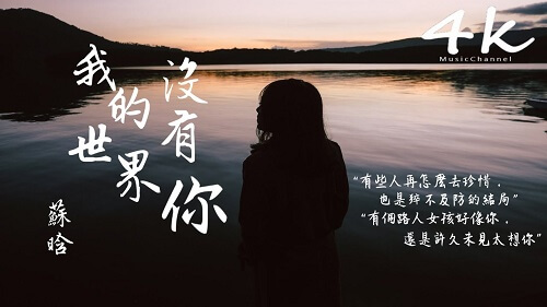 Wo De Shi Jie Mei You Ni 我的世界没有你 My World Without You Lyrics 歌詞 With Pinyin