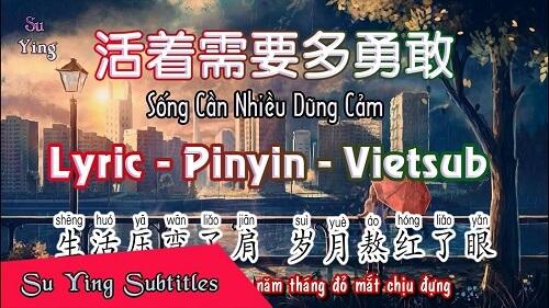 Huo Zhe Xu Yao Duo Yong Gan 活着需要多勇敢 How Brave It Takes To Live Lyrics 歌詞 With Pinyin