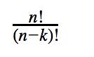 n! divided by (n-k)!