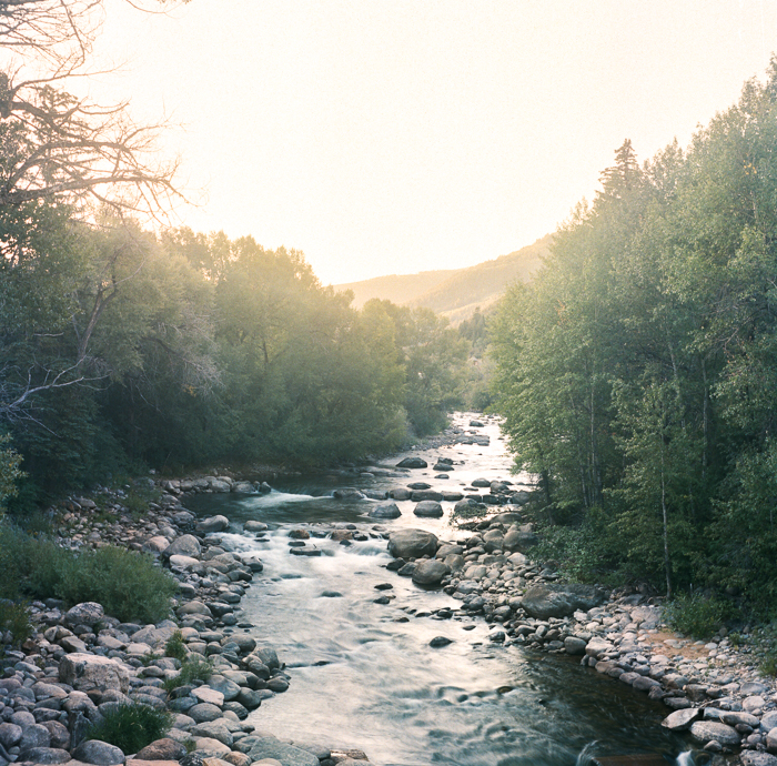 Eagle River, Colorado at sunrise