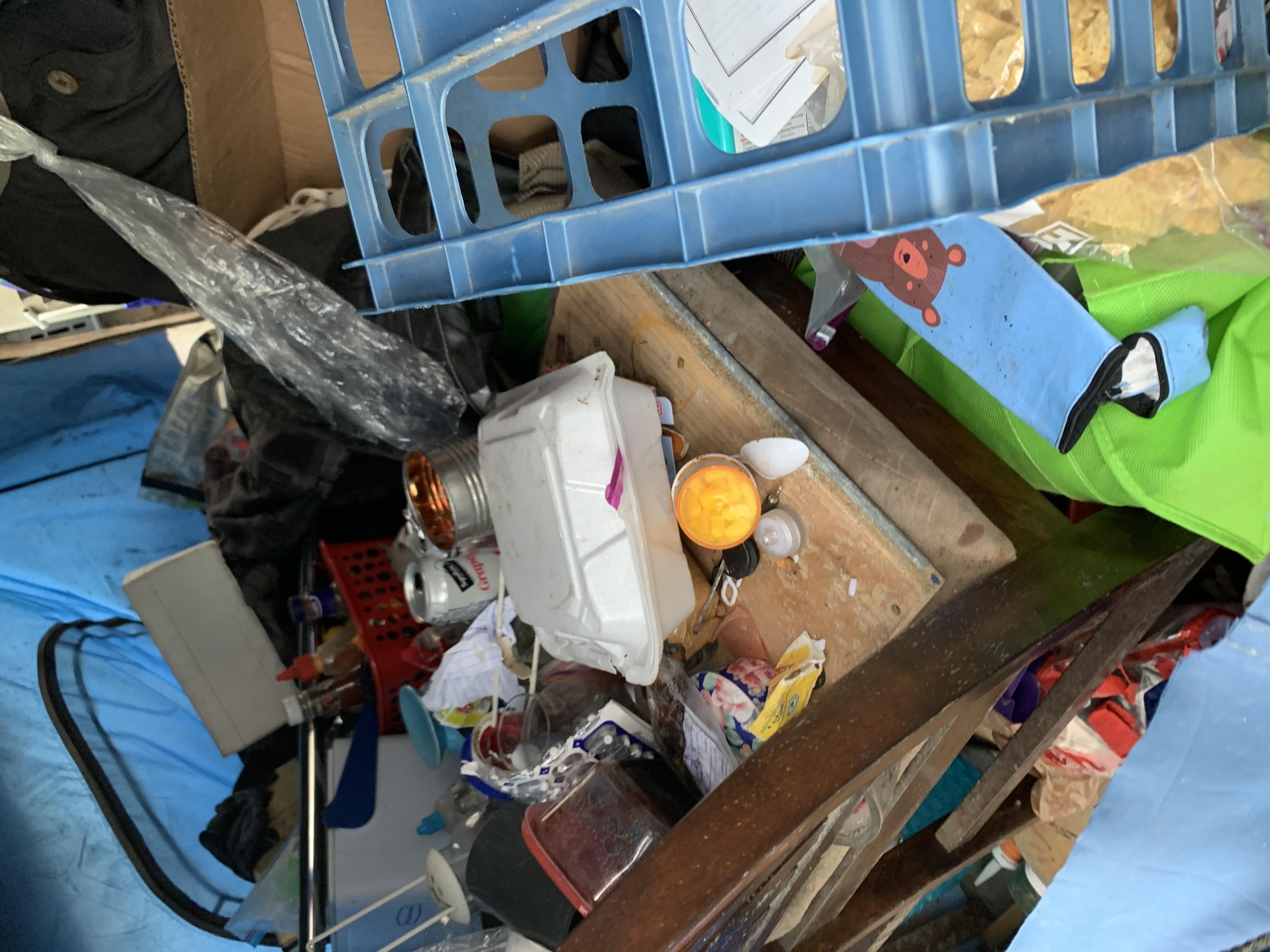 Tent full of items