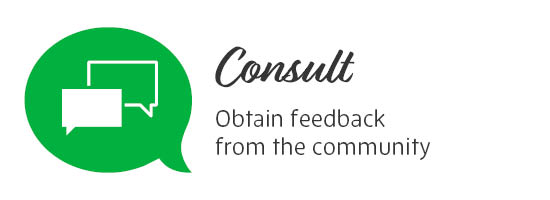 Consult - Obtain feedback from the community