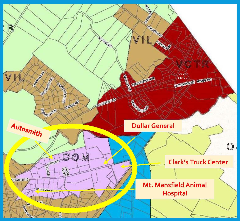 Jericho Zoning Map