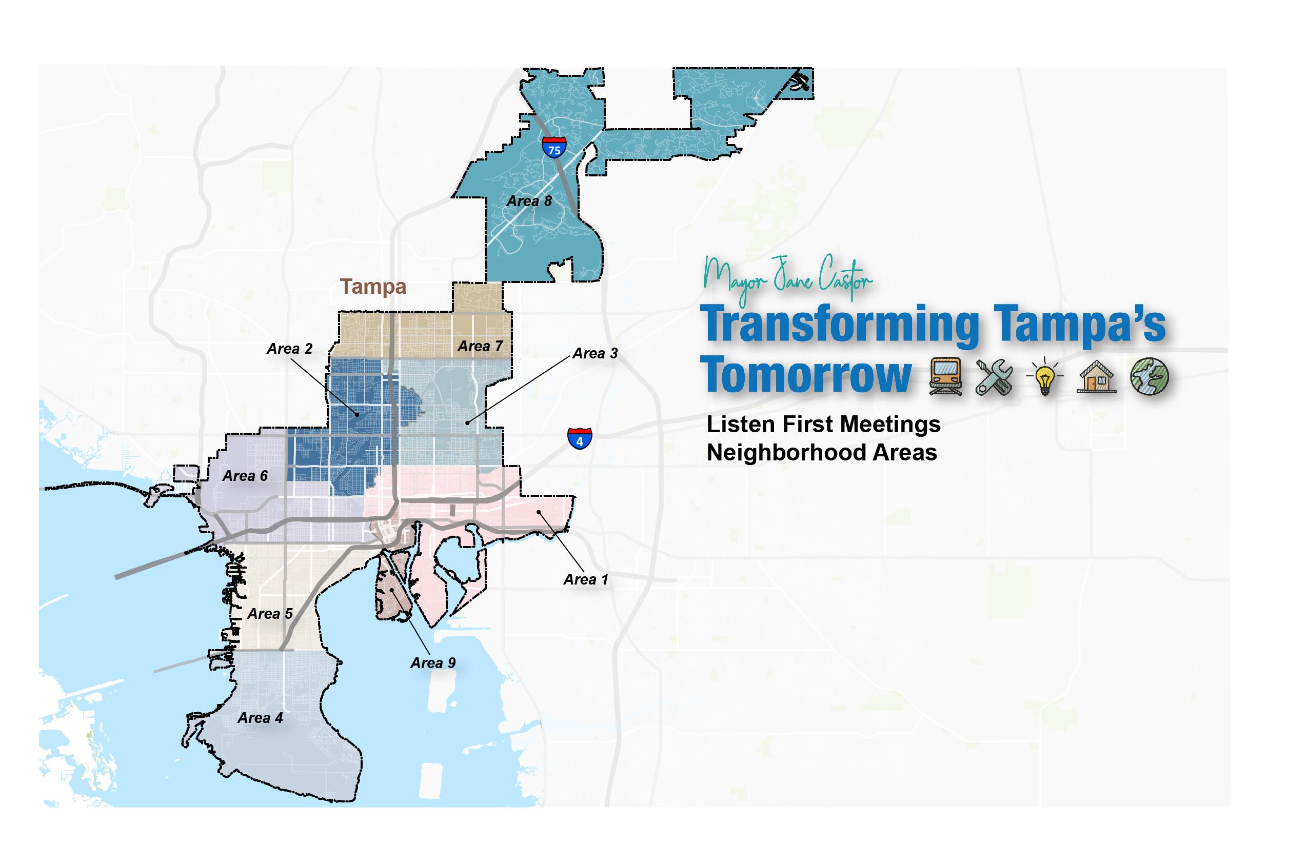 Listen First Meeting Map and Neighborhood Areas