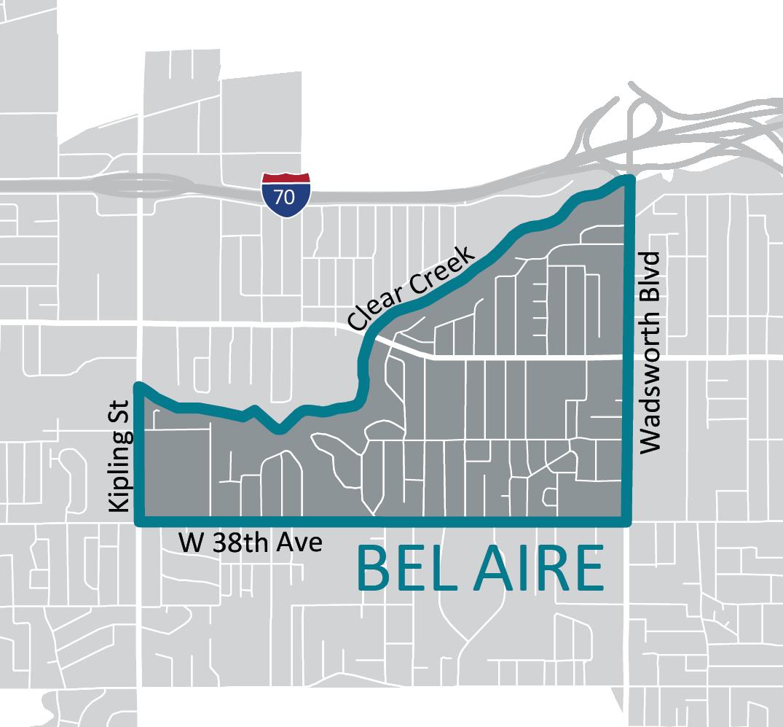 Map of Bel Aire Neighborhood