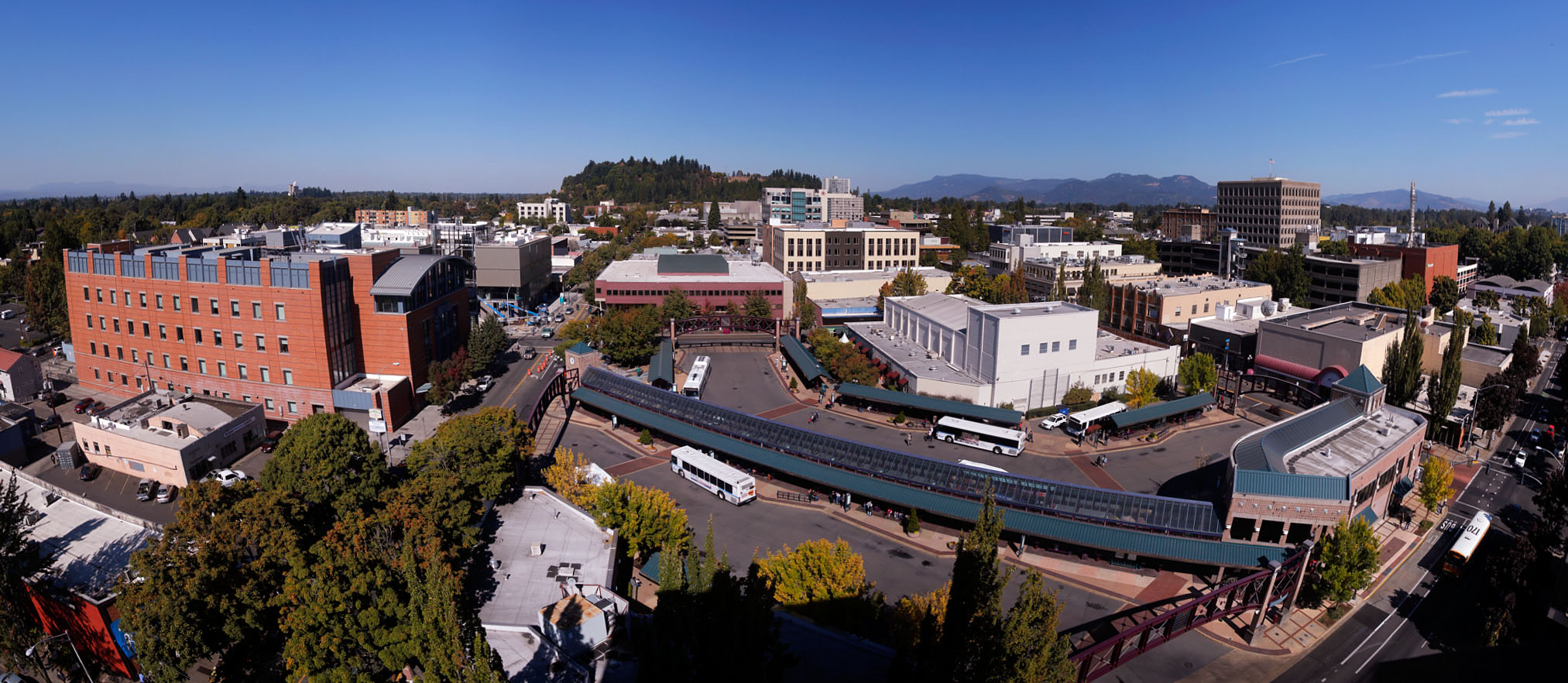 Downtown Eugene Bus Mall Panorama