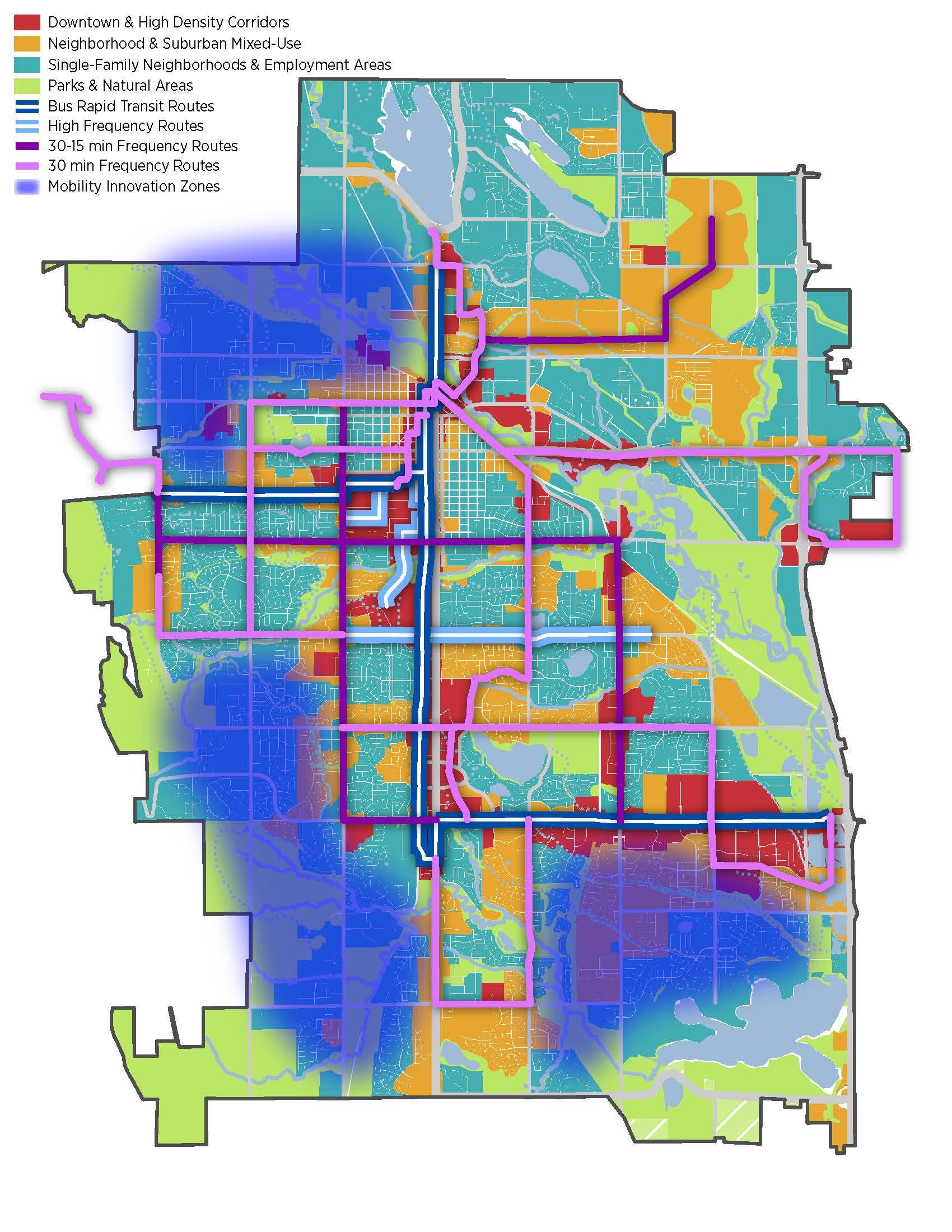 Future transit sytem map