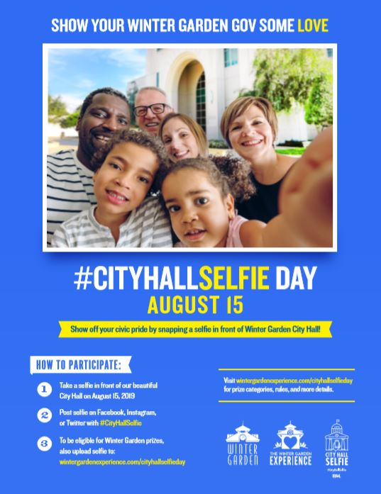 City hall selfie day