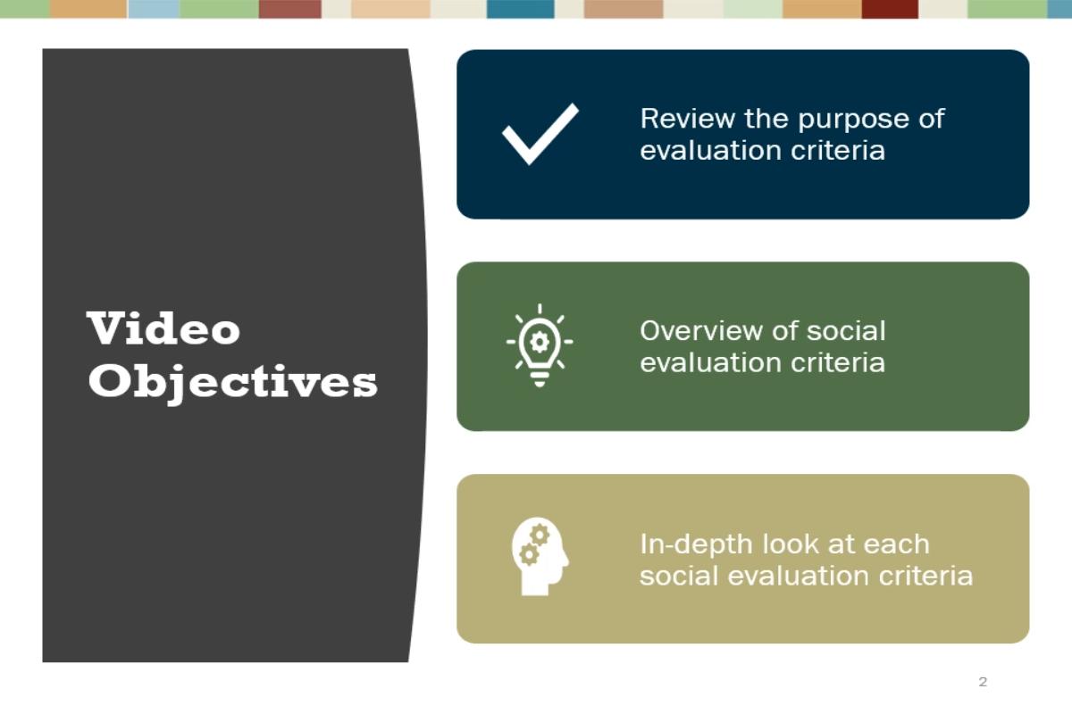 Video #7 - Social Evaluation Criteria