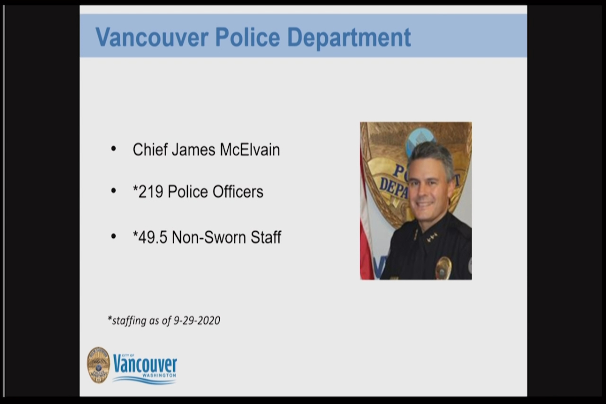 Vancouver Police Dept. 101 Presentation Chief McElvain Introduction