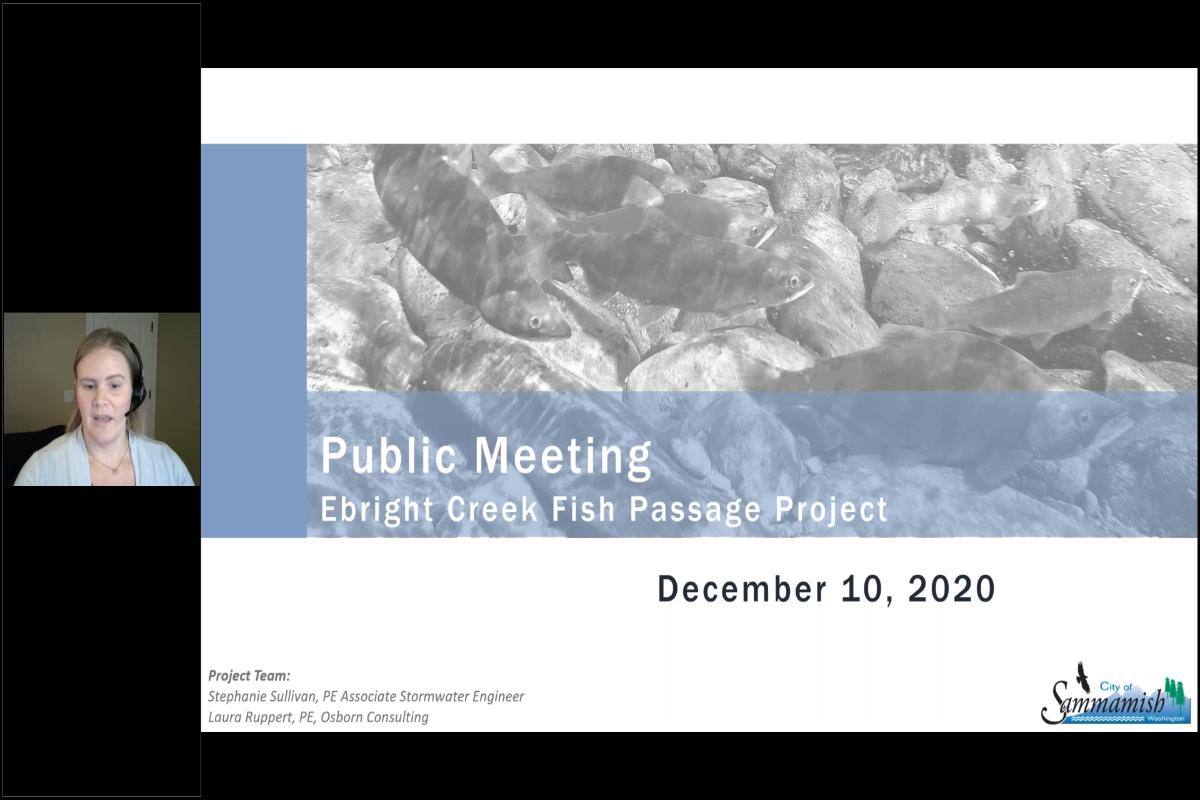 Dec. 10th Public Meeting - Ebright Creek Fish Passage Project