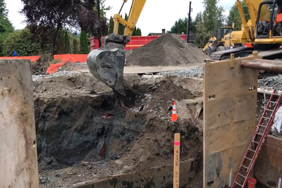 Removal of the Old Culvert Pipes