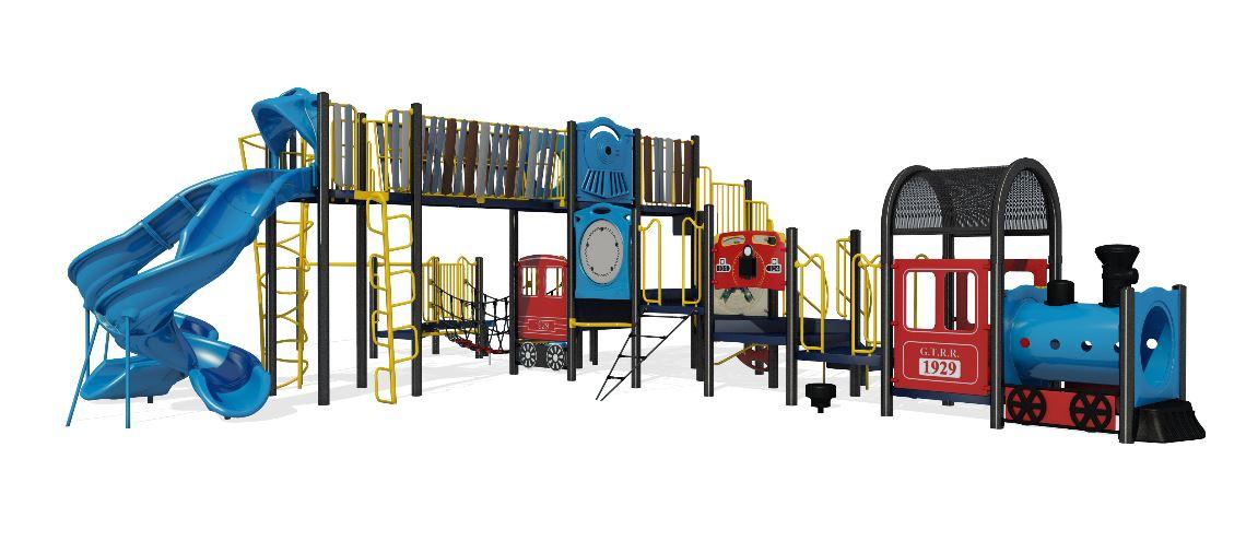 Traditional playground equipment