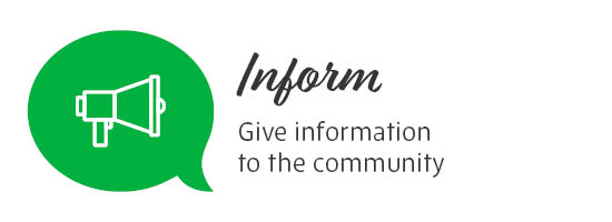 Inform - Give information to the community