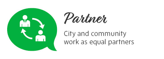 Partner - City and community work as equal partners