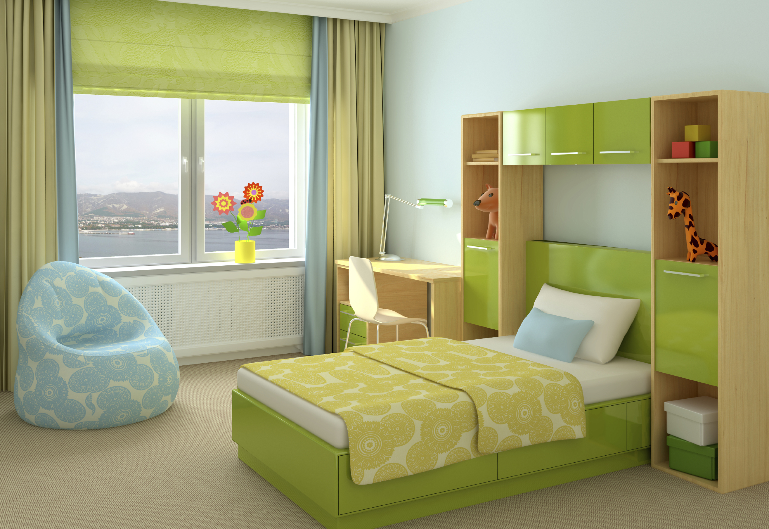 Bedrooms one or two