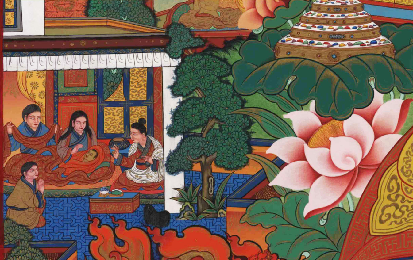 Birth of Gendun Gyamtso in the Tsang area of Southern Tibet