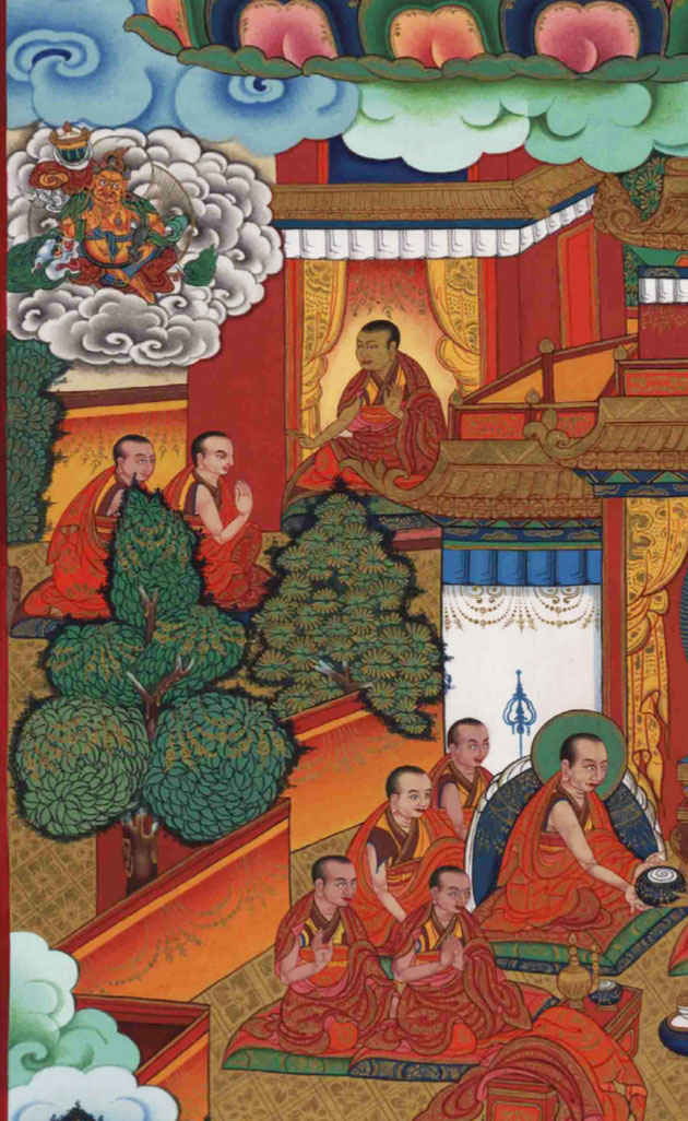 Gendun Gyatso receives teachings from the many esteemed teachers of Narthang monastery.