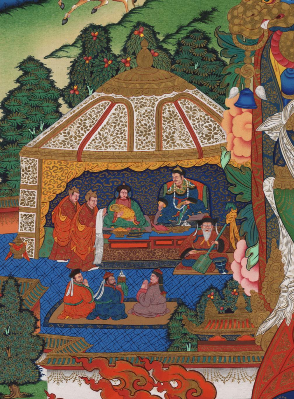 Birth of baby Borginin into Mongolian family of the Chokar tribe.