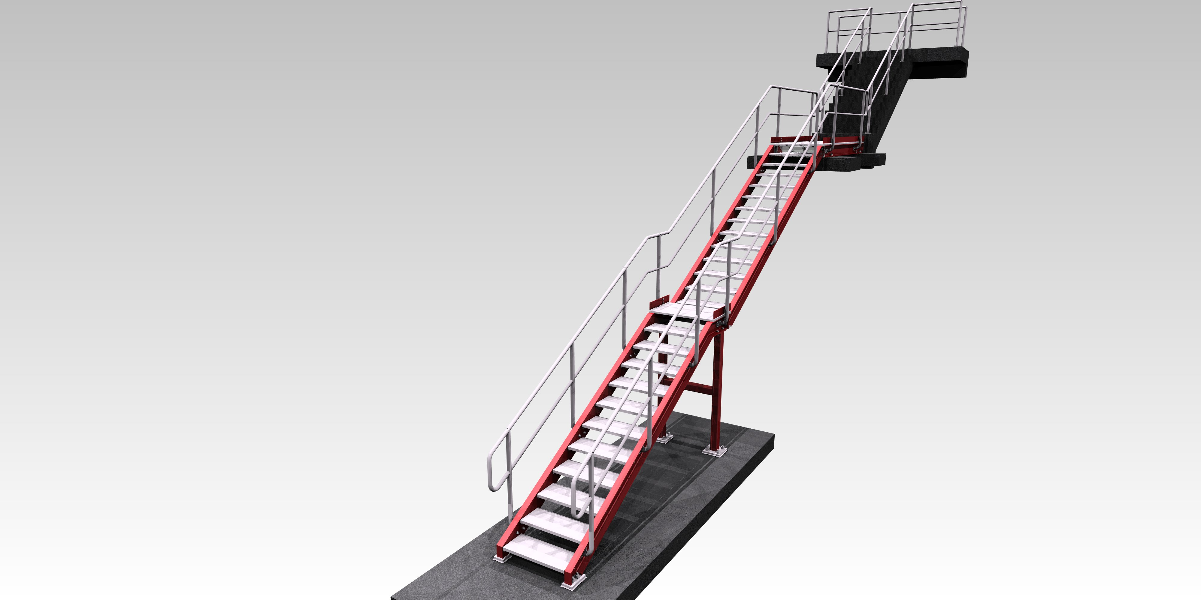 staircase detailing tekla - The Engineering Design