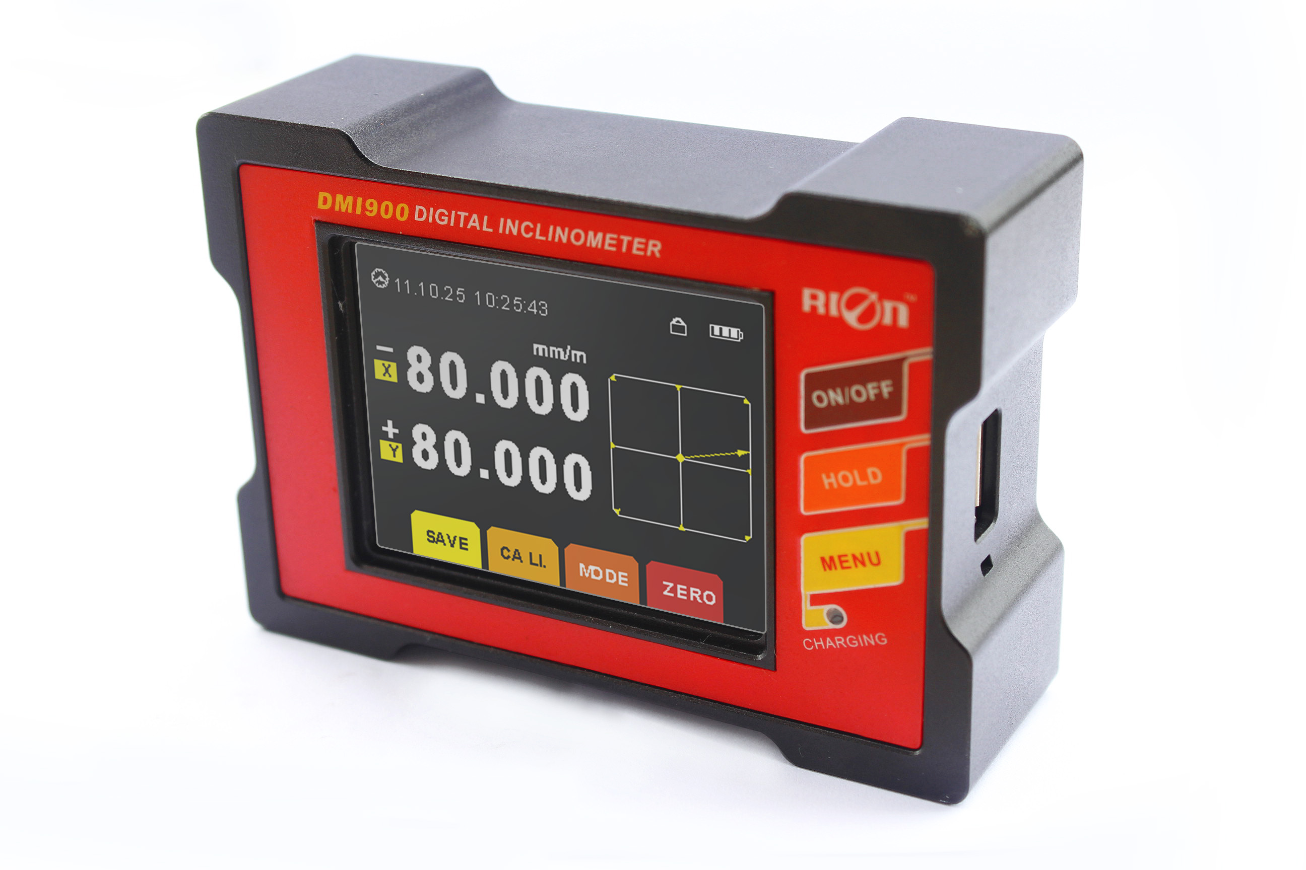 Touch screen dual axis digital inclinometer with best accuracy 0.002deg - Shenzhen Rion Technology Co., Ltd